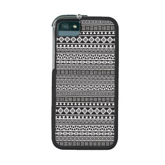 Aztec Style Repeat Pattern - Monochrome iPhone 5 Covers