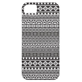 Aztec Style Repeat Pattern - Monochrome iPhone 5 Cases