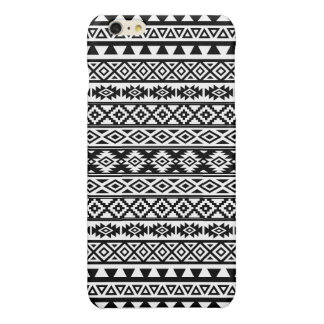 Aztec Stylized Pattern Black & White