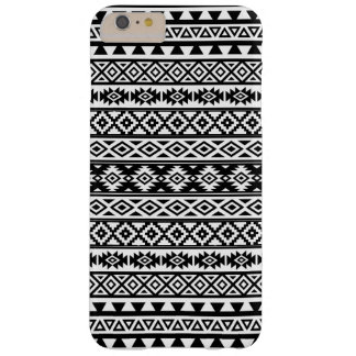 Aztec Stylized Pattern Black & White Barely There iPhone 6 Plus Case