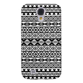Aztec Stylized Pattern Black & White Galaxy S4 Case