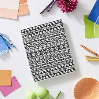 Aztec Stylized Pattern Black & White iPad Cover
