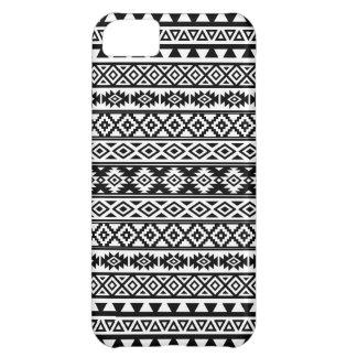 Aztec Stylized Pattern Black & White iPhone 5C Case