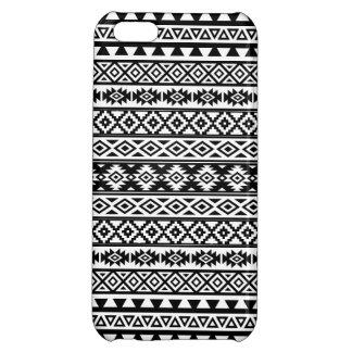 Aztec Stylized Pattern Black & White iPhone 5C Cases
