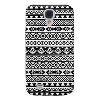 Aztec Stylized Pattern Black & White Samsung Galaxy S4 Cover