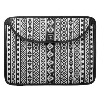 Aztec Stylized (V) Pattern Black & White Sleeve For MacBook Pro