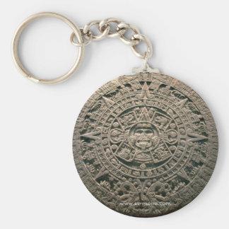 """Aztec """"Sun calendar,"""" Mexico City Keychains"""