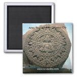 "Aztec ""Sun calendar,"" Mexico City Magnet"