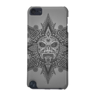 Aztec Sun Mask – grey iPod Touch (5th Generation) Cover