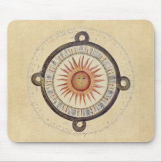Aztec Sunstone Calendar Mouse Pad
