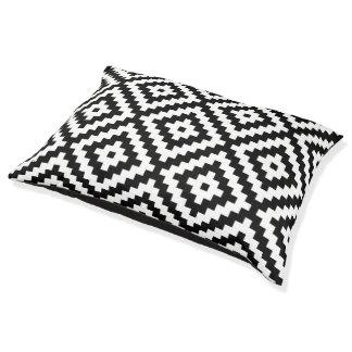 Aztec Symbol Block Lg Ptn Black & White II Pet Bed