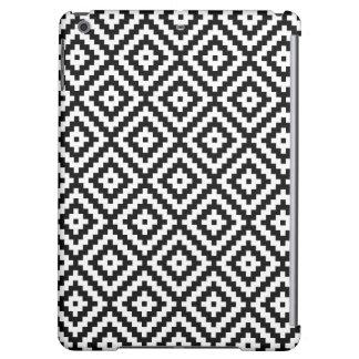 Aztec Symbol Block Ptn Black & White