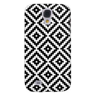Aztec Symbol Block Ptn Black & White I Galaxy S4 Case