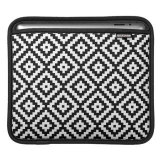Aztec Symbol Block Ptn Black & White II iPad Sleeve