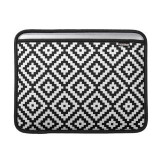 Aztec Symbol Block Ptn Black & White II MacBook Sleeve