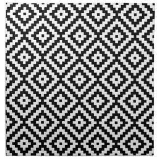 Aztec Symbol Block Ptn Black & White II Napkin