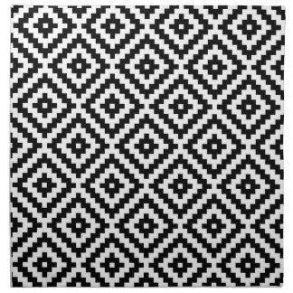 Aztec Symbol Block Ptn Black & White Napkin