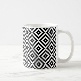 Aztec Symbol Block Rpt Ptn Black & White I Coffee Mug