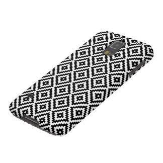Aztec Symbol Block Rpt Ptn Black & White I Galaxy S5 Case