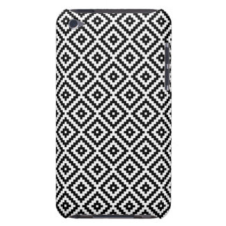 Aztec Symbol Block Rpt Ptn Black & White I iPod Touch Cover