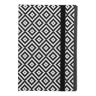 Aztec Symbol Block Rpt Ptn Black & White II iPad Mini 4 Case