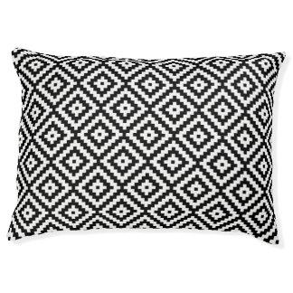 Aztec Symbol Block Rpt Ptn Black & White II Pet Bed