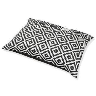 Aztec Symbol Block Rpt Ptn Black & White Pet Bed