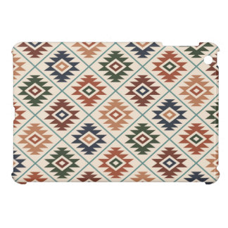 Aztec Symbol Stylized (H) Pattern Color Mix Case For The iPad Mini