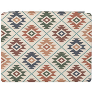 Aztec Symbol Stylized (H) Pattern Color Mix iPad Cover