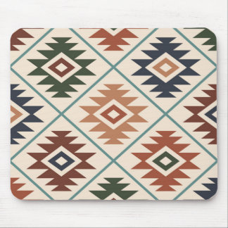 Aztec Symbol Stylized Lg Pattern Color Mix Mouse Pad