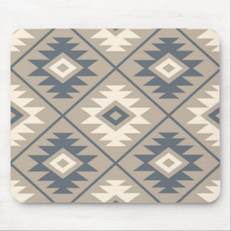 Aztec Symbol Stylized Lg Ptn Blue Cream Sand Mouse Pad