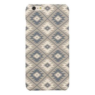Aztec Symbol Stylized Pattern Blue Cream Sand