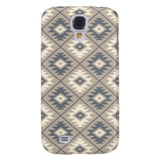 Aztec Symbol Stylized Pattern Blue Cream Sand Samsung Galaxy S4 Case