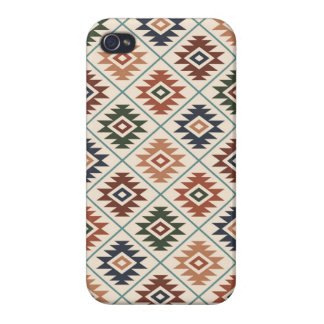 Aztec Symbol Stylized Pattern Color Mix Cover For iPhone 4