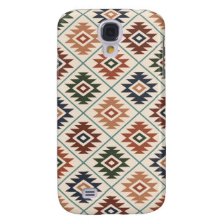 Aztec Symbol Stylized Pattern Color Mix Galaxy S4 Cases