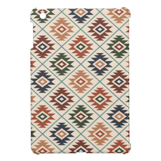 Aztec Symbol Stylized Pattern Color Mix iPad Mini Cover