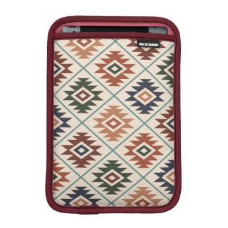 Aztec Symbol Stylized Pattern Color Mix iPad Mini Sleeve