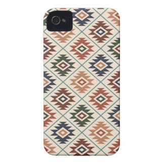 Aztec Symbol Stylized Pattern Color Mix iPhone 4 Cover