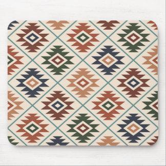 Aztec Symbol Stylized Pattern Color Mix Mouse Pad