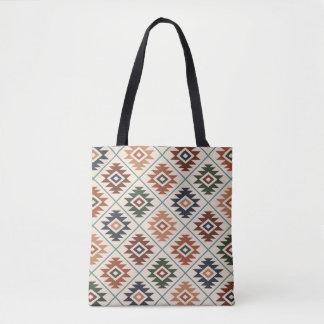 Aztec Symbol Stylized Pattern Color Mix Tote Bag