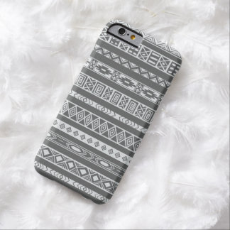 Aztec Tribal Ethnic Geometric Pattern Dark Grey Barely There iPhone 6 Case