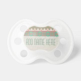 Aztec Tribal Native Pastel Peach/Aqua Baby Pacifiers