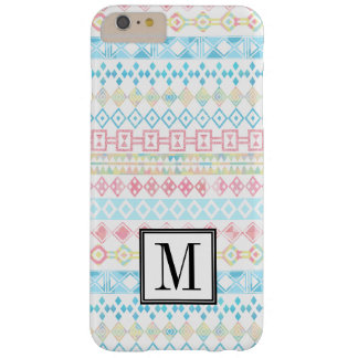 Aztec Tribal Pastel Initial Monogram Barely There iPhone 6 Plus Case
