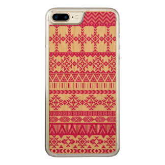 Aztec Tribal Patten iPhone 7 Plus Wood Case