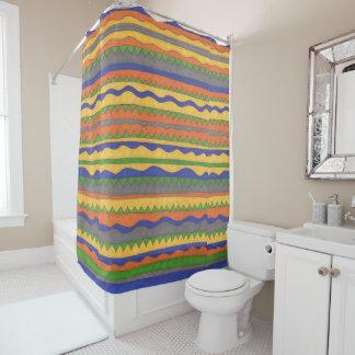 Aztec Tribal Pattern Bold Shower Curtain