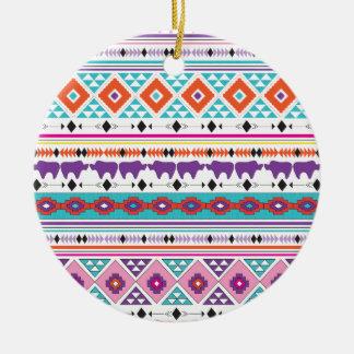 Aztec Tribal pattern graphic Ceramic Ornament