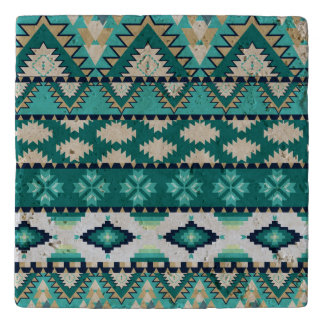 Aztec tribal pattern trivet