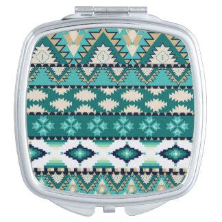 Aztec tribal pattern vanity mirror