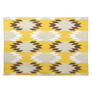 Aztec Tribal Yellow Brown Native American Designs Placemat