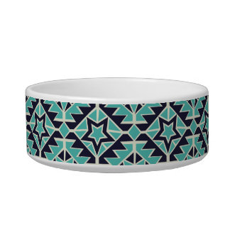 Aztec turquoise and navy bowl